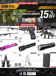 eHobby Asia: 5.11 Spring 15% OFF Last Call | Popular Airsoft