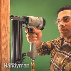 How to Use a Trim Nailer Gun, and not nail your finger to the wall!