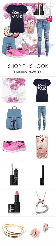 """""""067 Pinky Donut Girl"""" by berry2206 ❤ liked on Polyvore featuring George, Skinnydip, AMIRI, NIKE, Casetify, NARS Cosmetics, Disney, Cartier and 1928"""