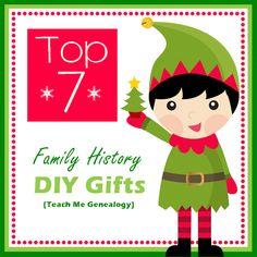 Teach Me Genealogy: Family History Gift Ideas - http://www.tmgenealogy.com/search/label/Gift%20Ideas