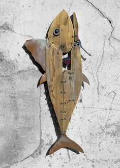 ScoobaFish solo exhibition at the Olbia's airport in Sardinia, Italy. Fish Sculpture, Wood Sculpture, Sculptures, Metal Fish, Wooden Fish, Fish Wall Art, Fish Art, Driftwood Fish, Boat Art