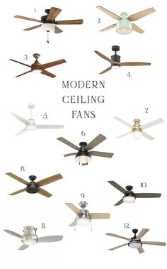 Modern Ceiling Fan Options