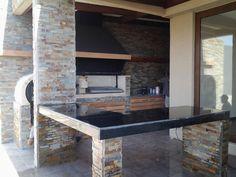 QUINCHO P.SANTANDER Outdoor Kitchen Grill, Backyard Kitchen, Outdoor Kitchen Design, Backyard Patio, Outdoor Patio Designs, Outdoor Projects, Patio Ideas, Parrilla Exterior, Grill Design