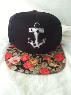 Anchor Floral Snap Back by ALIENS of BROOKLYN