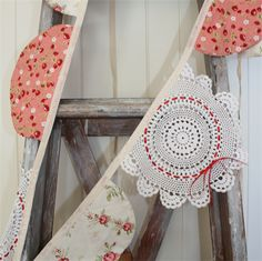 Vintage Doily Bunting - Red & Pink | Belle and Jay | madeit.com.au