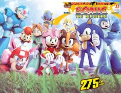 "CELEBRATE 275 ISSUES OF SONIC THE HEDGEHOG with his good buddy Mega Man and the worlds of STREET FIGHTER, BILLY HATCHER, NiGHTS INTO DREAMS, MONSTER HUNTER and more in this DOUBLE-SIZED ISSUE! ""Worlds"
