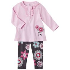 JUST ONE YOU  Made by Carters ® Infant Girls' 2 Piece Set - Pink/Dark Grey.Opens in a new window