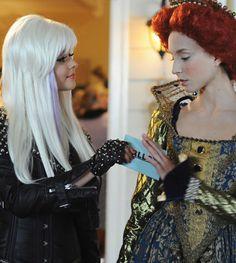 Sasha Pieterse as Alison DiLaurentis and Troian Bellisario as Spencer Hastings