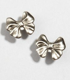 Metallic Brittany Bow Earrings  $10