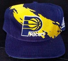 Indiana Pacers Snapback Logo Athletic Splash Vintage Hat NBA Logo7 Rare Dark Cap Indiana Pacers, Snapback Hats, Old School, Nba, Baseball Hats, Athletic, Fresh, Logo, Dark