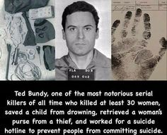 """He wasn't a fan of """"do-it-your-self"""" people Famous Serial Killers, Bizarre Stories, Ted Bundy, Talking Points, Human Mind, Psychopath, Mug Shots, True Crime, Weird Facts"""