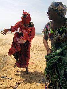 Dancing on the beach. The Gambia (@Brimstone Dreams)