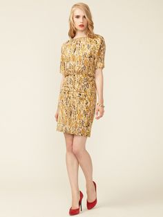 Albertine Ruched Silk Dress by Twenty8Twelve. Not a fan of the print but <3 the silhouette.