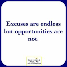 #Reflect on the #opportunities missed because of invalid #excuses. Don't allow the excuses #dictate you.