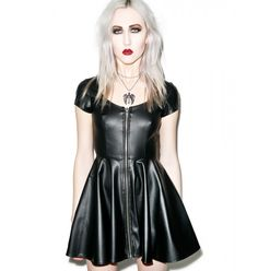 Lip Service Sumthin' Sexy Classic Faux Leather Dress