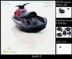 Boats   Jetski 2   3D Decoupage   Insert   Tag on Craftsuprint - View Now!