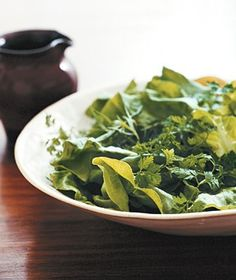 Tender Greens With Champagne Vinaigrette   Get the recipe: http://www.realsimple.co...