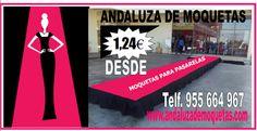 Moquetas para desfiles de moda. www.andaluzademoquetas.com
