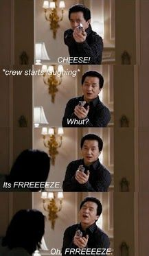 LOL! One of Jackie Chan's bloopers during Rush Hour 3, this is what makes him so awesome haha