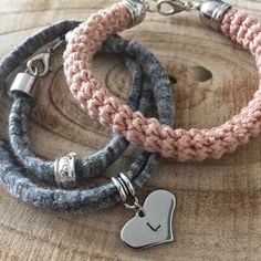 Angels handmade: Armcandy..Gehaakte armband, stamping tags