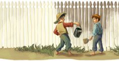 Tom Sawyer birthday party games and activities plus great ideas for decorations, invitations, food and much more!