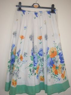 How to recycle a table cloth into a skirt. How To Make A Full Circle Skirt From A Tablecloth! By Minnie Burton - Step 7