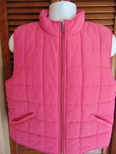 Telluride Clothing Womens Quilted Pink Ski Vest Jacket Size Large 42  Chest NICE
