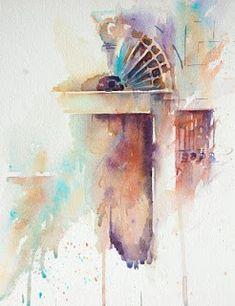 """""""Venetian Door Study""""  Original Watercolour by Jean Haines"""