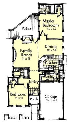 Craftsman Style House Plan - 2 Beds 2 Baths 1198 Sq/Ft Plan #921-12 Floor Plan - Main Floor Plan - Houseplans.com