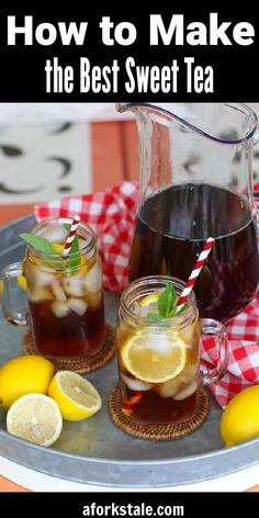 Here in the South, we love our sweet tea. Making it from scratch at home is very easy. Follow these easy steps and tips on how to make sweet tea perfect every time. #sweettea #icedtea #howtomakesweettea Sweet Tea Recipes, Easy Drink Recipes, Drinks Alcohol Recipes, Cocktail Recipes, Summer Recipes, Appetizer Recipes, Cocktails, Sweets Recipes, Smoothie Recipes