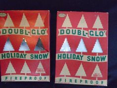 """2 BOXES """"DOUBL-GLO HOLIDAY SNOW"""""""