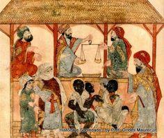 Mercado de escravos no Yemen (1236-1237), Manuscrito árabe.     :: Identidade 85