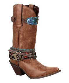 Another great find on #zulily! Durango Brown Faux Leather Belt Cowboy Boot by Durango #zulilyfinds