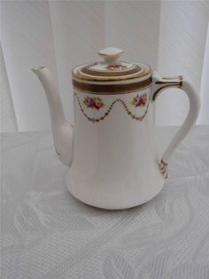 Royal Albert Greek Key Pattern 4462 Flowers Teapot Coffee Pot | eBay