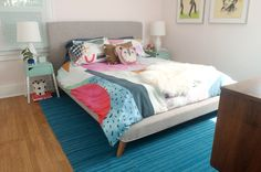 Eclectic bedroom makeover with Signature Blackout Shades
