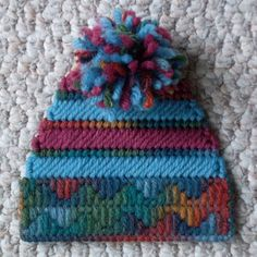 Plastic Canvas Multicolored Winter Hat by ReadySetSewbyEvie, $3.00 . . .now, with even more fun colors! :) Let me know what colors you would like to see. . .could sew these all day!