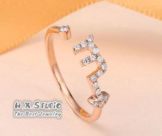 Diamond Pave Zodiac - Scorpio - Ring in Solid 18k Yellow Gold/Rose Gold/White Gold, 12 Zodiacal Constellations Ring, Astrology Ring, Gift