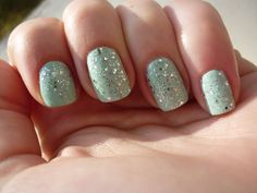 Water green and sparkles