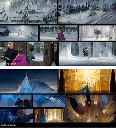 Lighting Design de Lisa Keene para Frozen   THECAB - The Concept Art Blog