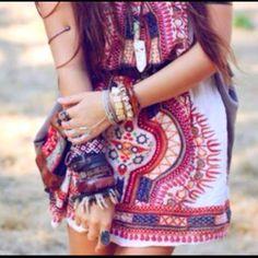 cute dress, cute necklace, cute arm cuff!