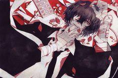 """No medicine to save"" Manga Anime, Anime Guys, Anime Art, Dazai Bungou Stray Dogs, Stray Dogs Anime, Dazai Osamu Anime, Dog Frames, Joker Art, Dog Art"