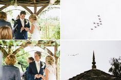 Red arrows fly over whilst we are saying our vows #redarrows