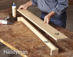 Build the core of the shelf. Over the Door Display Shelf Plans: http://www.familyhandyman.com/woodworking/shelves/over-the-door-display-shelf-plans/view-all