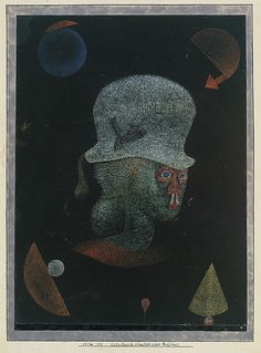 Paul Klee. Astrological Fantasy Portrait (1924). Gouache on paper, bordered with ink and gouache. The Berggruen Klee Collection, 1984.