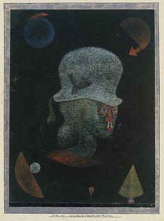 Retrato Fantasy Astrológica  Paul Klee (alemán (nacido en Suiza), Münchenbuchsee 1879-1940 Muralto-Locarno)  Fecha: 1924 Medio: Gouache sobre papel, que limita con tinta y gouache Dimensiones: H. 12-3/8, 9-3/8 pulgadas W. (31,4 x 23,8 cm.) Clasificación: Dibujos Línea de crédito: La Colección Berggruen Klee, 1984
