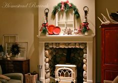 I really like this fireplace with the Vermont stove!
