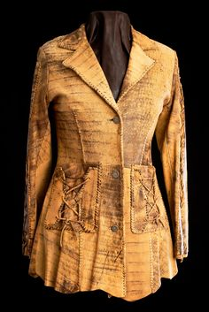 Would be really cool if it was the marauders map as the pattern!!! Bohemian Blazer from Tribe America Leathers