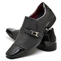 a6bc8cc550 Sapato Social Masculino Em Couro Verniz Vinho sapatofran - R  169