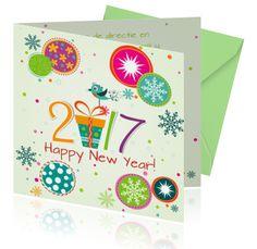 Een leuke uitnodiging voor de nieuwjaarsreceptie. Gelukkig nieuwjaar!