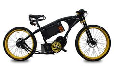 Pg-Bike Black Block 2 with a Clean Mobile bottom bracket drive system. Cruiser Bicycle, Motorized Bicycle, Bobber Motorcycle, Moto Bike, Motorcycles, Cool Bicycles, Cool Bikes, Rat Bikes, Bicycle Engine
